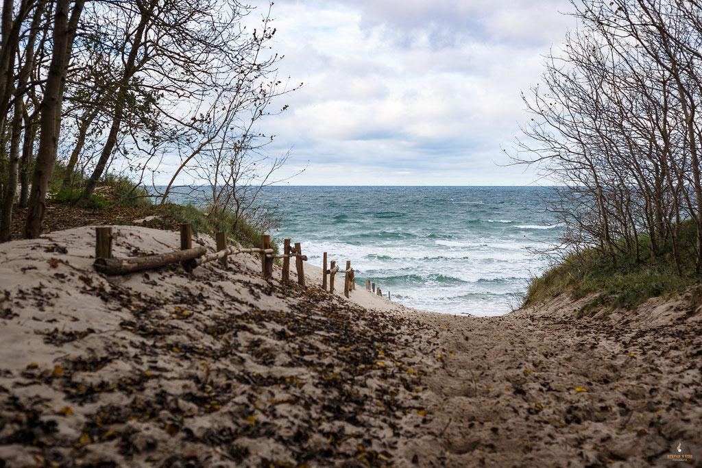 Weg zum Strand Bakenberg