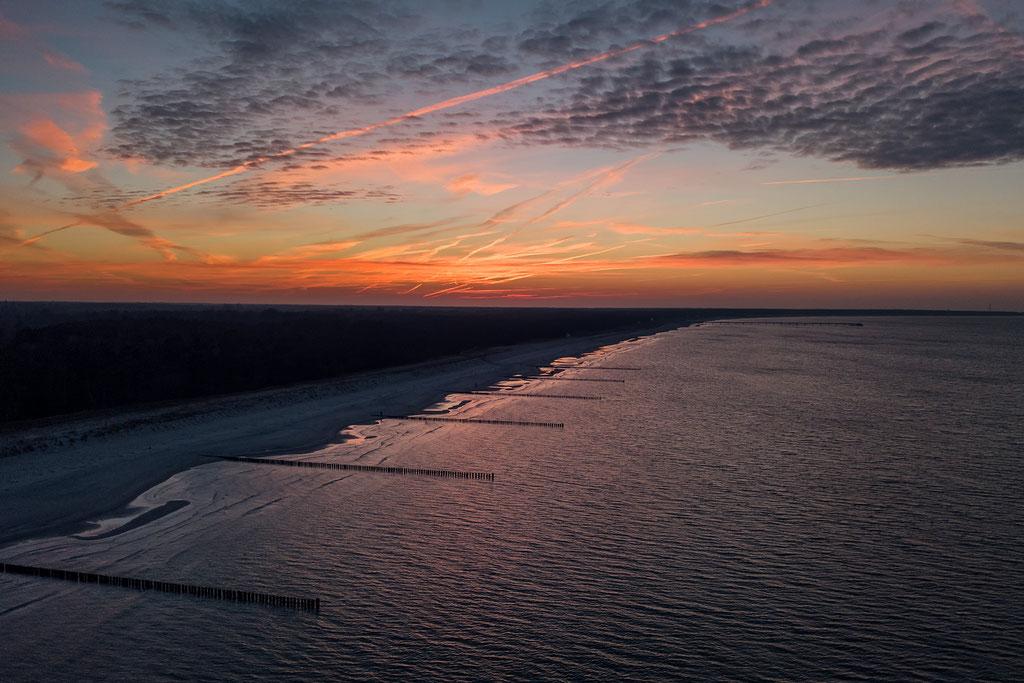 Sonnenuntergang am Strand von Prerow