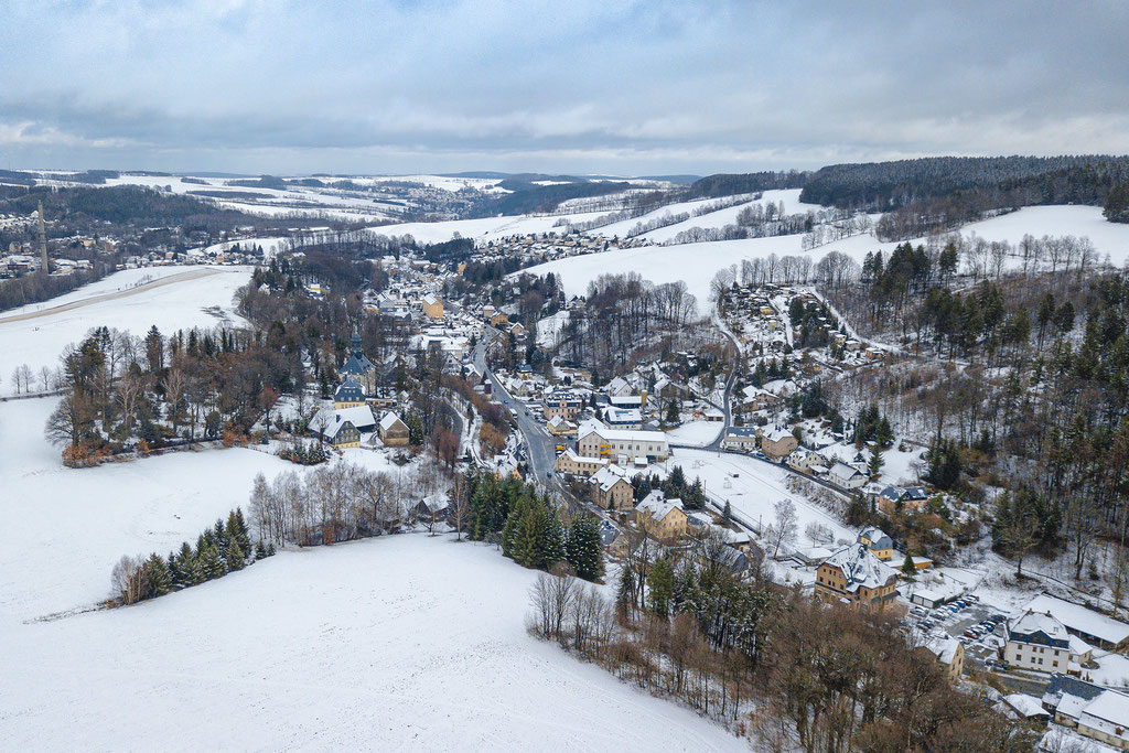 Gornsdorf im Winter