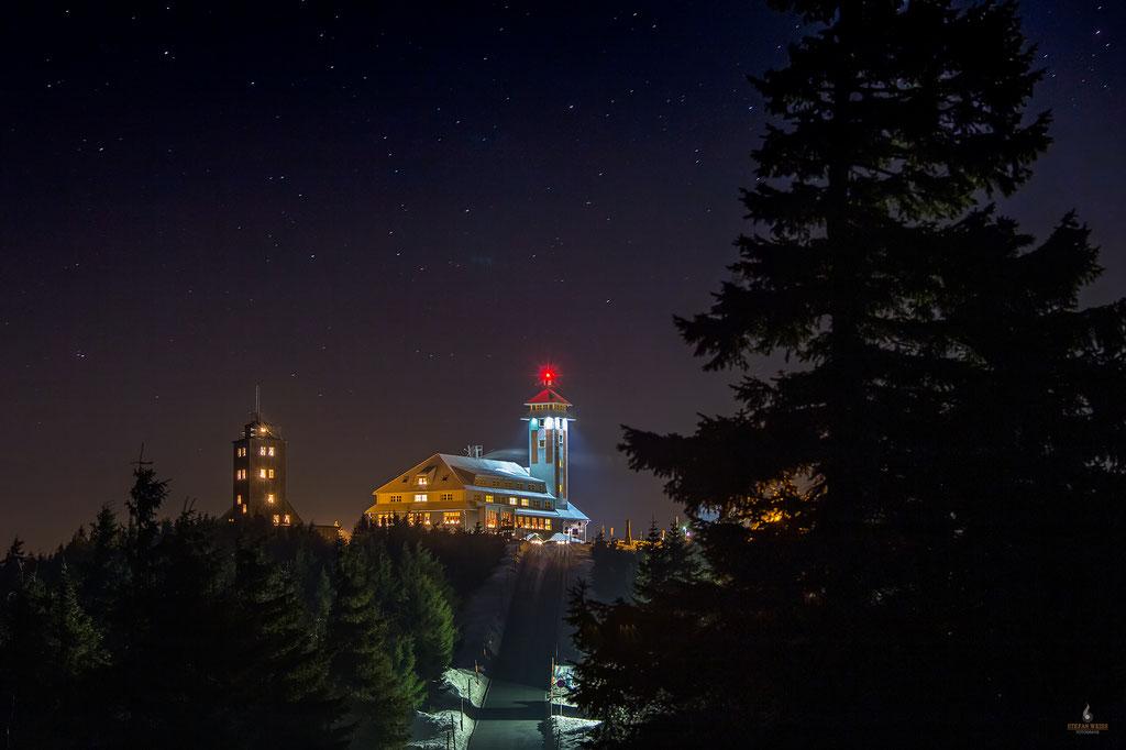 Abendstimmung auf dem Fichtelberg