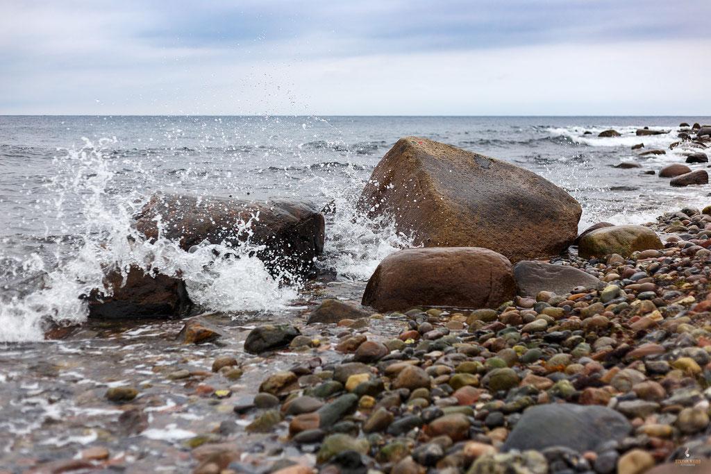 Stürmische Ostsee bei Dranske
