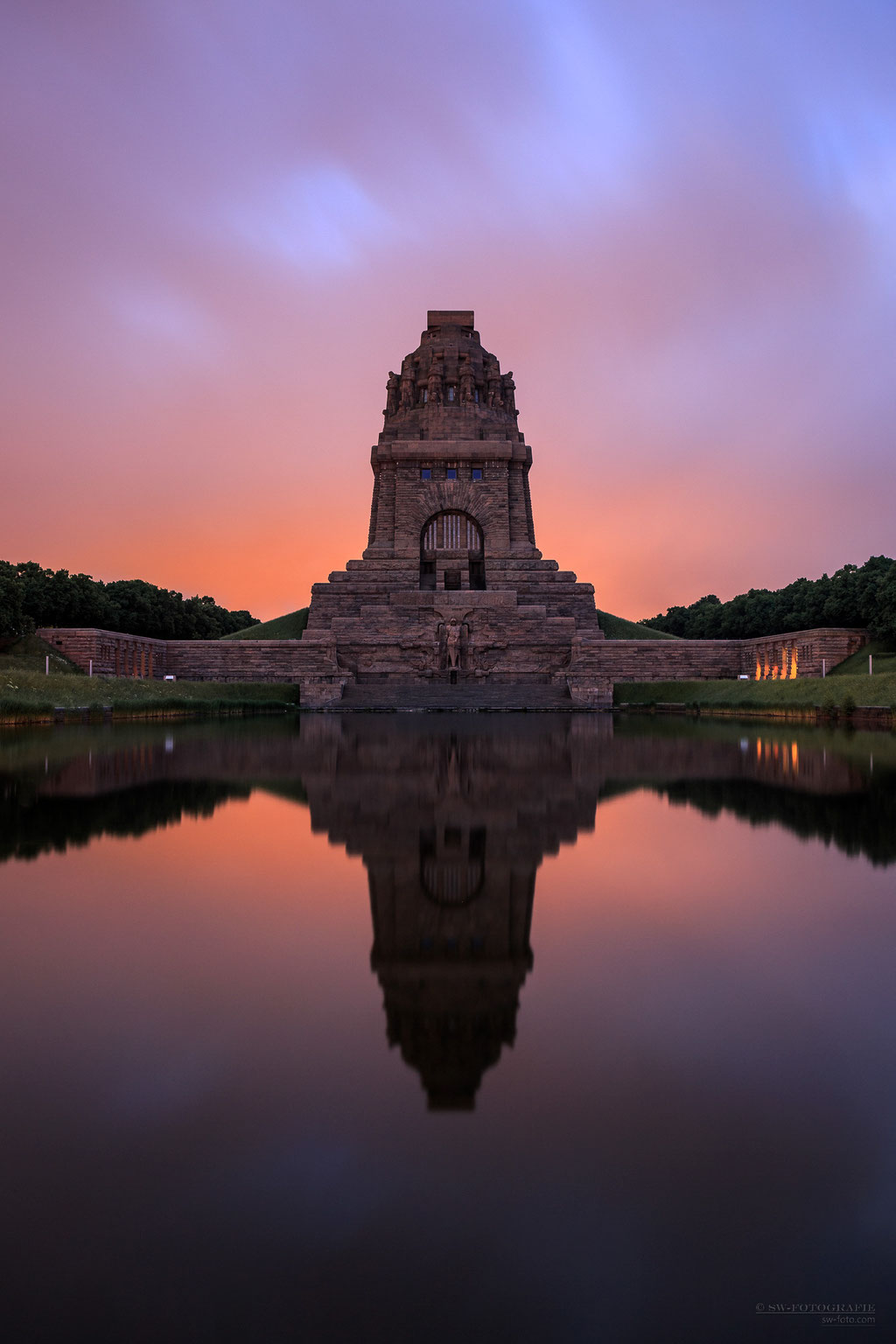 Morgenstimmung am Völkerschlachtdenkmal