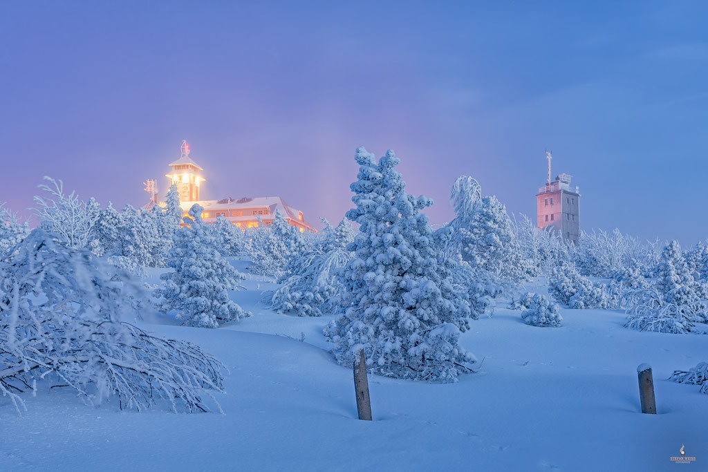Winter auf dem Fichtelberg