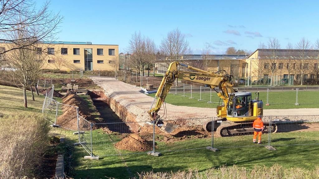 MRV Bernburg Vorbereitung Fundamente Umzäunung