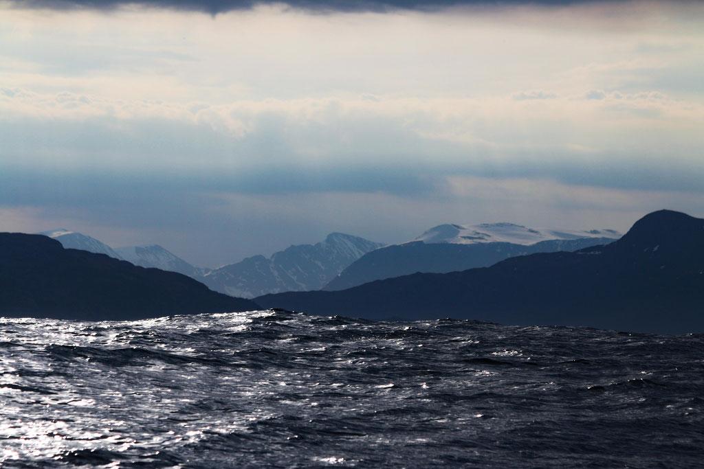 Hohe Wellen bei der Überfahrt