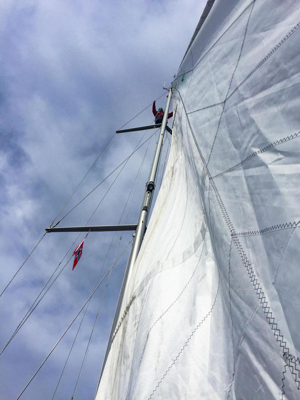 Christine im Mast