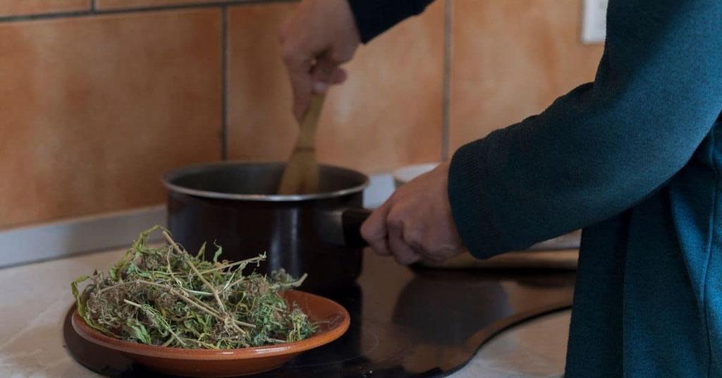 Cannabis Butter Herstellung Vorbereitung