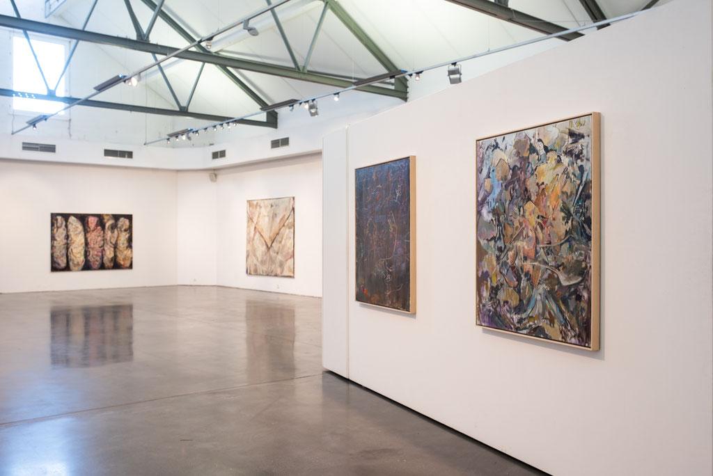 solo exhibition »Ölregen« Kulturforum Schorndorf, 2019 | Photo: Lukas Breusch, Kulturforum Schorndorf