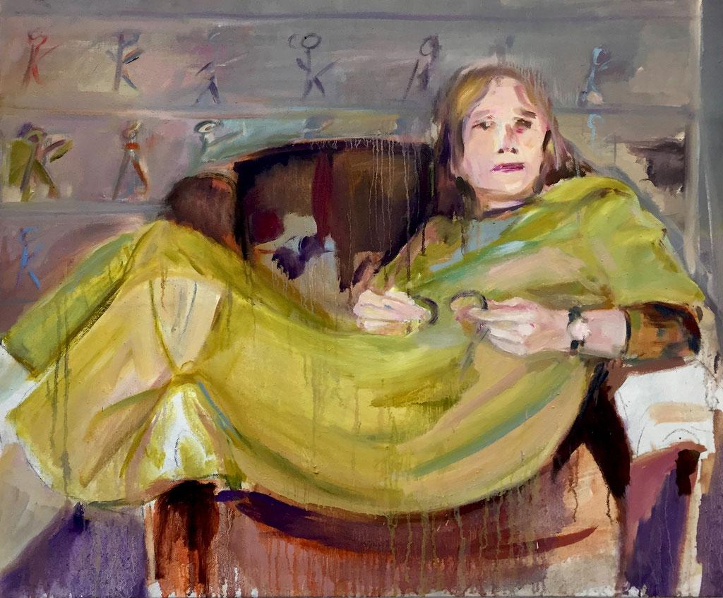 Lazy Ank, oil on canvas 100 x 120 cm