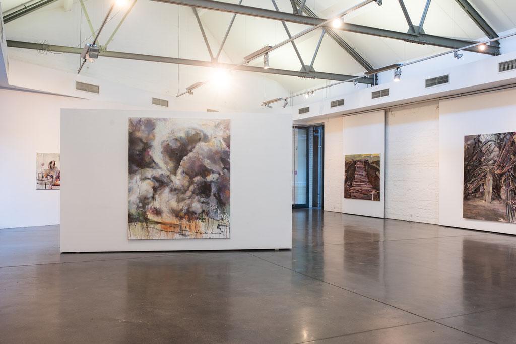 Soloausstellung »Ölregen« Kulturforum Schorndorf, 2019 | Photo: Lukas Breusch, Kulturforum Schorndorf