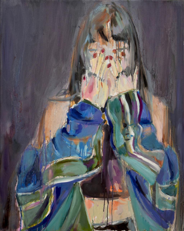 Insta girl 1 2019 Öl auf Lwd 100 x 80 cm