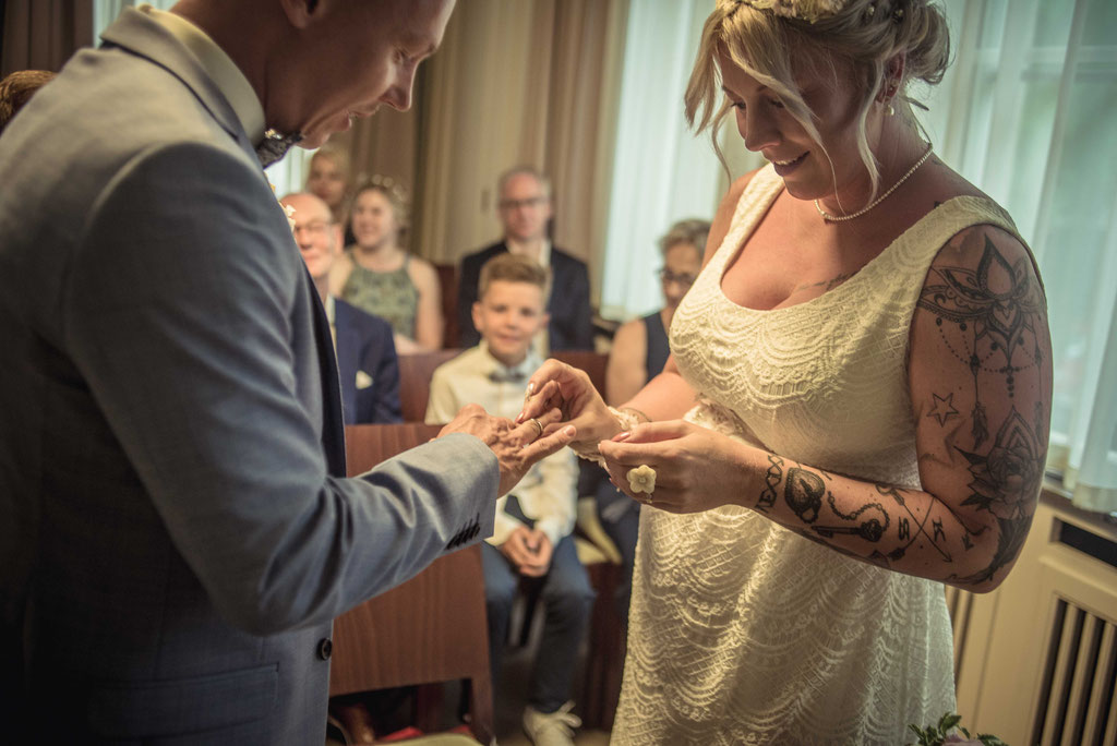 Hochzeit, Hochzeitsfotos im Standesamt Bremen Mitte
