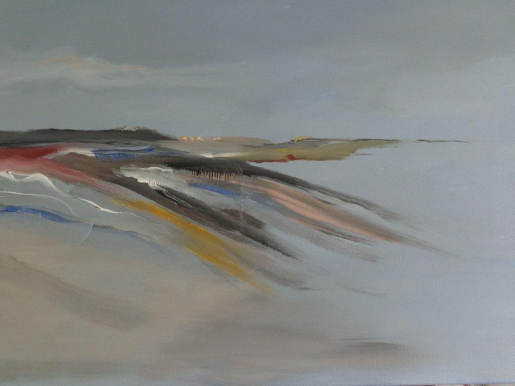 Bild 2  70 x 50 cm  Acry auf Leinwand, Motiv frei nach Hinrich JW Schüler