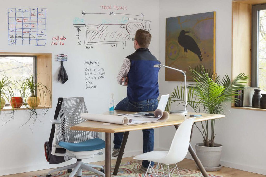 Ideen im Home-Office festhalten