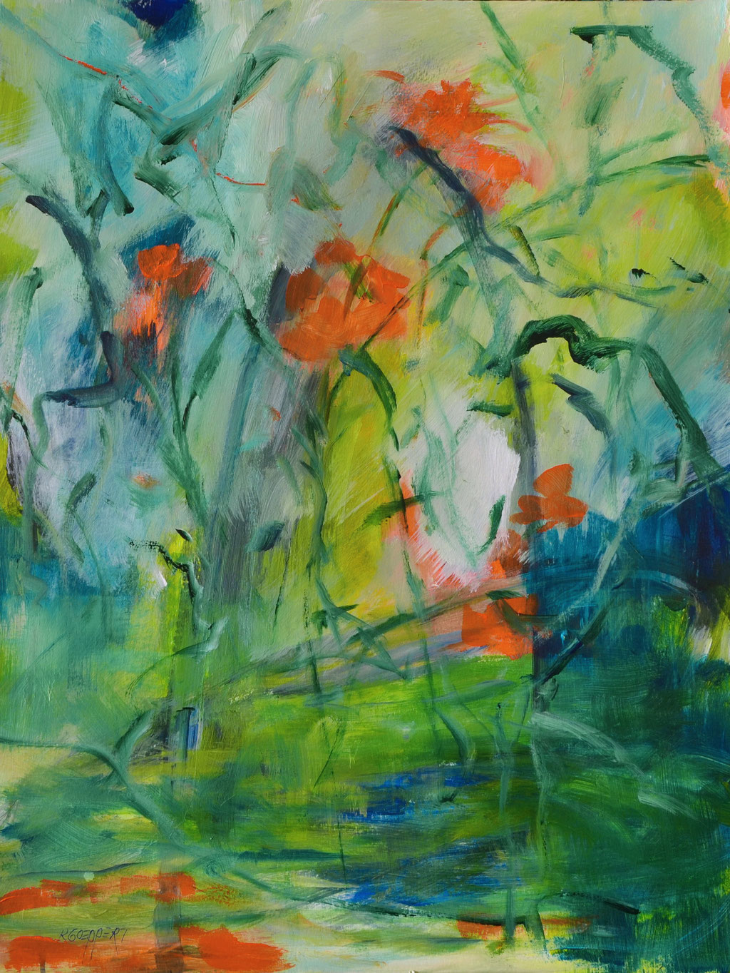 Floris 56 x 42 cm / 22 x 16.5 in - acryl on paper - sold