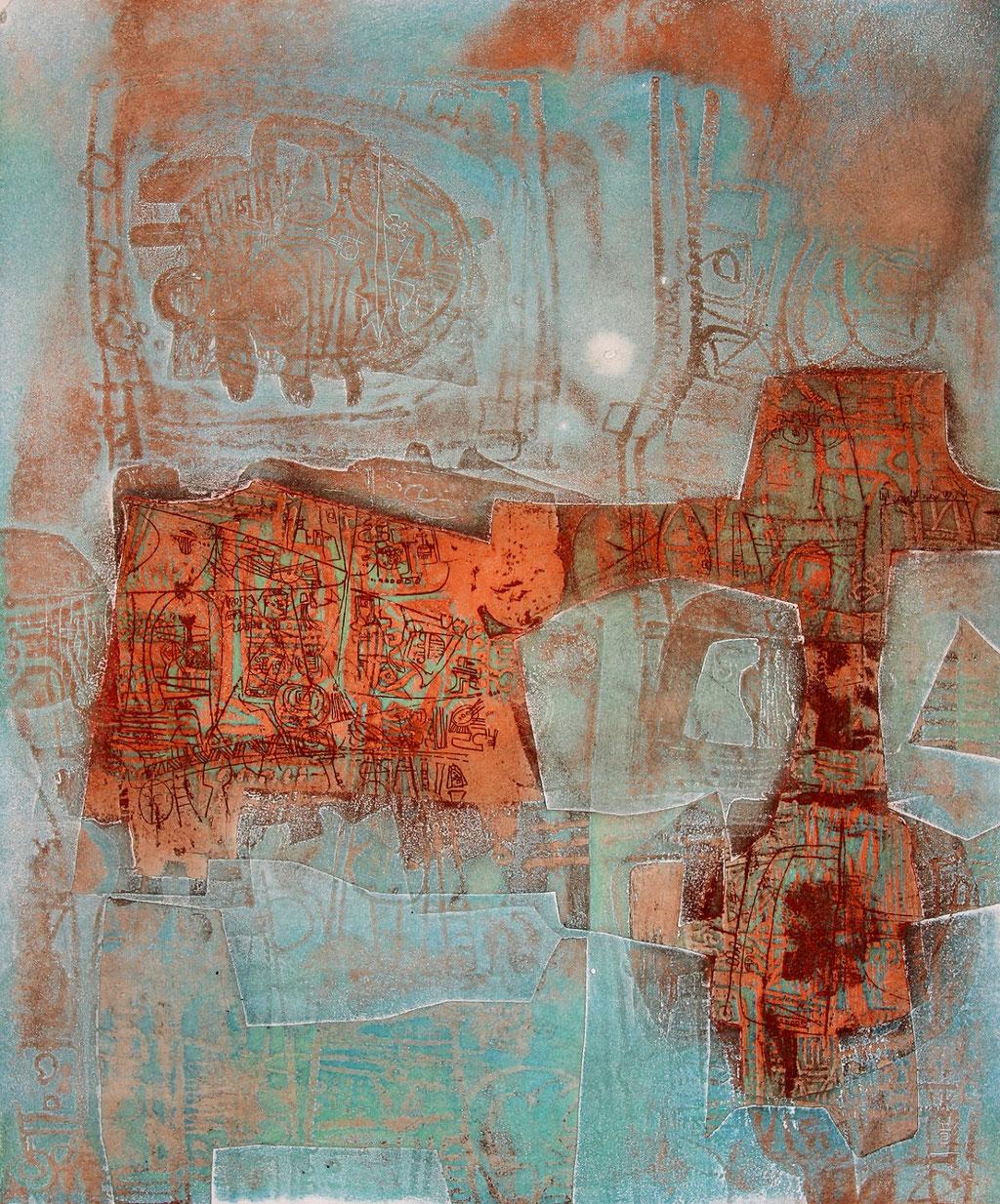 Pont de l' Aube - etching - 59 x 49 cm - 70 copies