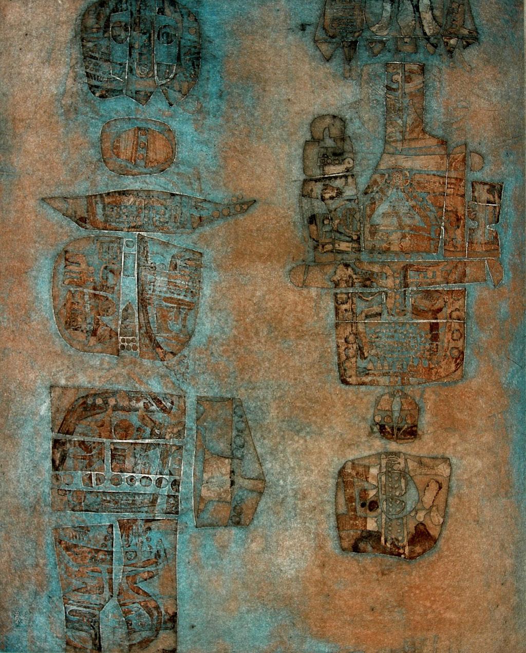 Attente du Printemps - etching - 49 x 39 cm - 70 copies