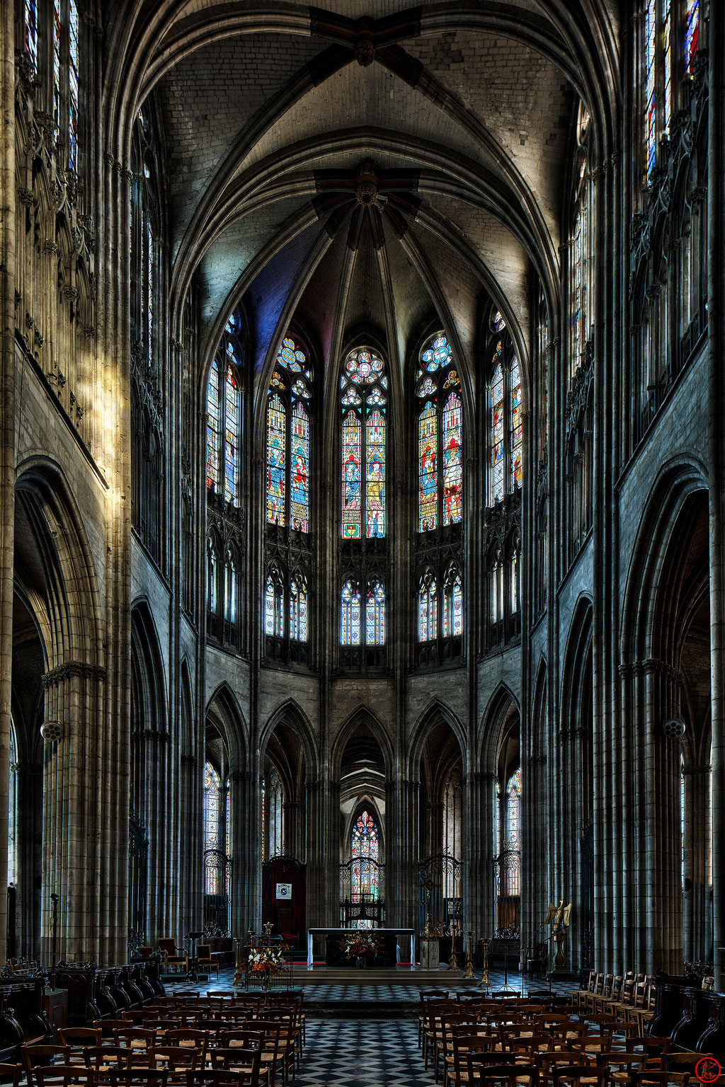 Cathédrale Notre-Dame d'Évreux, Eure, France. Octobre 2017