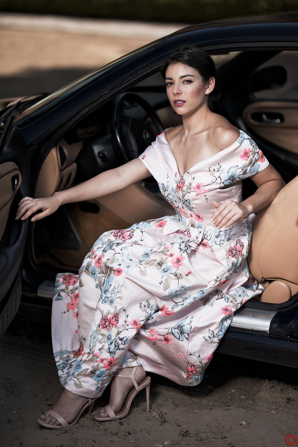 Océane Bellonne, 6 mai 2018. Automobile : Maserati 3200 GT