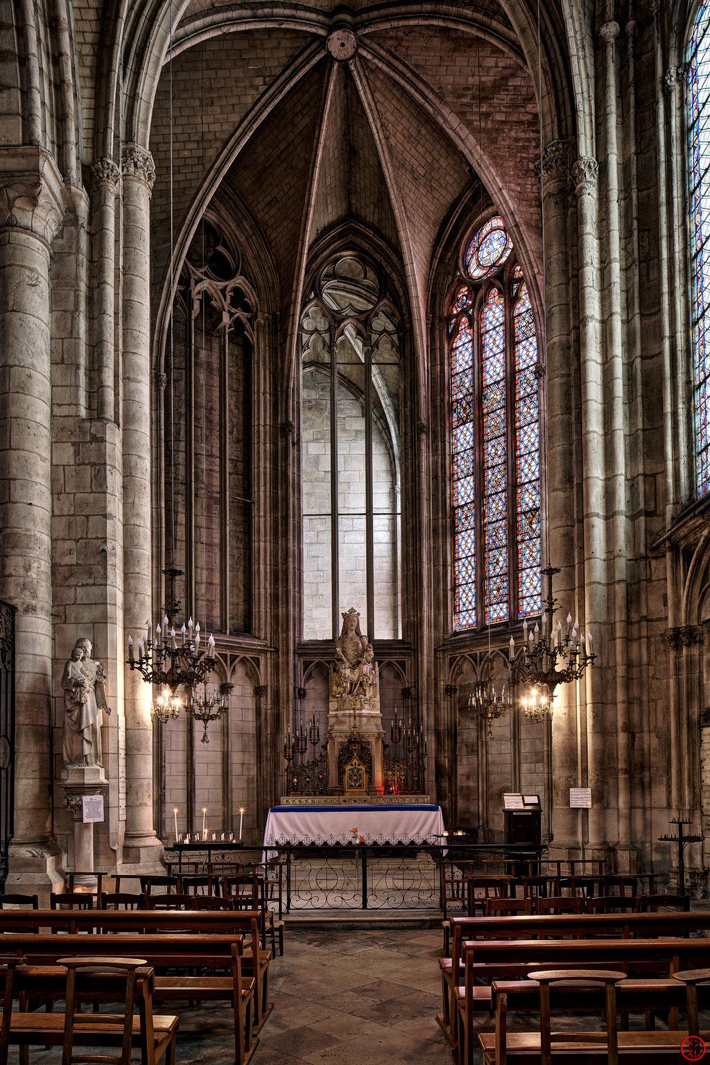 Cathédrale Saint-Etienne de Sens, Yonne, France. Janvier 2019