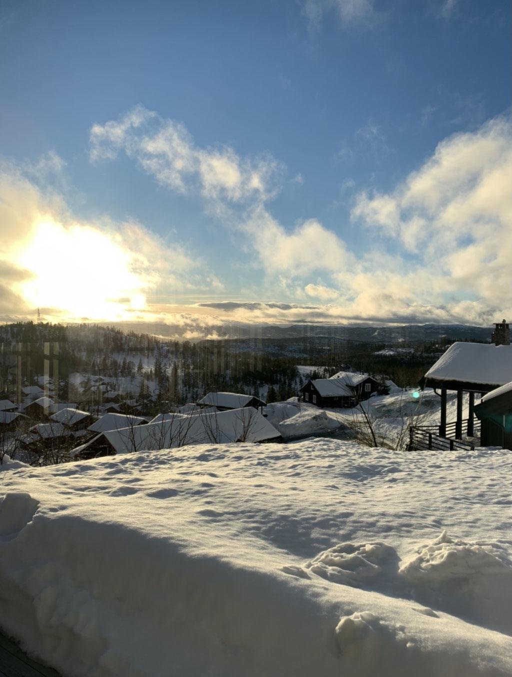 Im Winter in den Bergen Norwegens