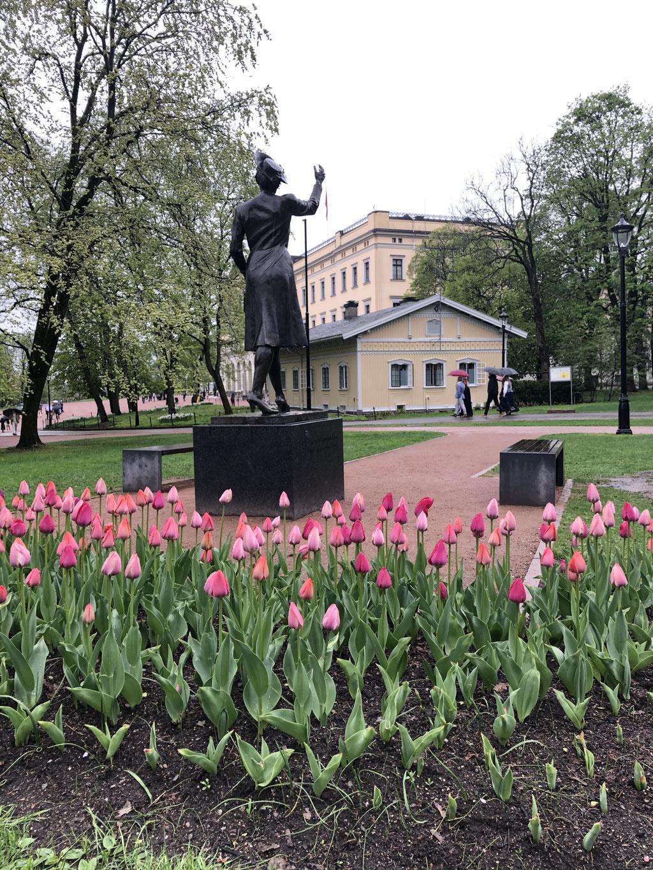 Blütenpracht im Schlosspark von Oslo