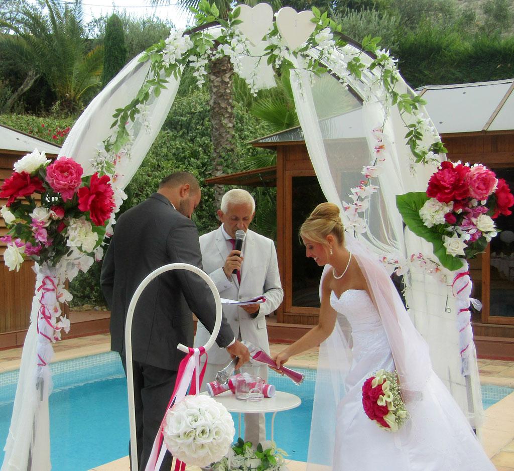 cérémonie laique à mouans sartoux  ( alpes maritimes )