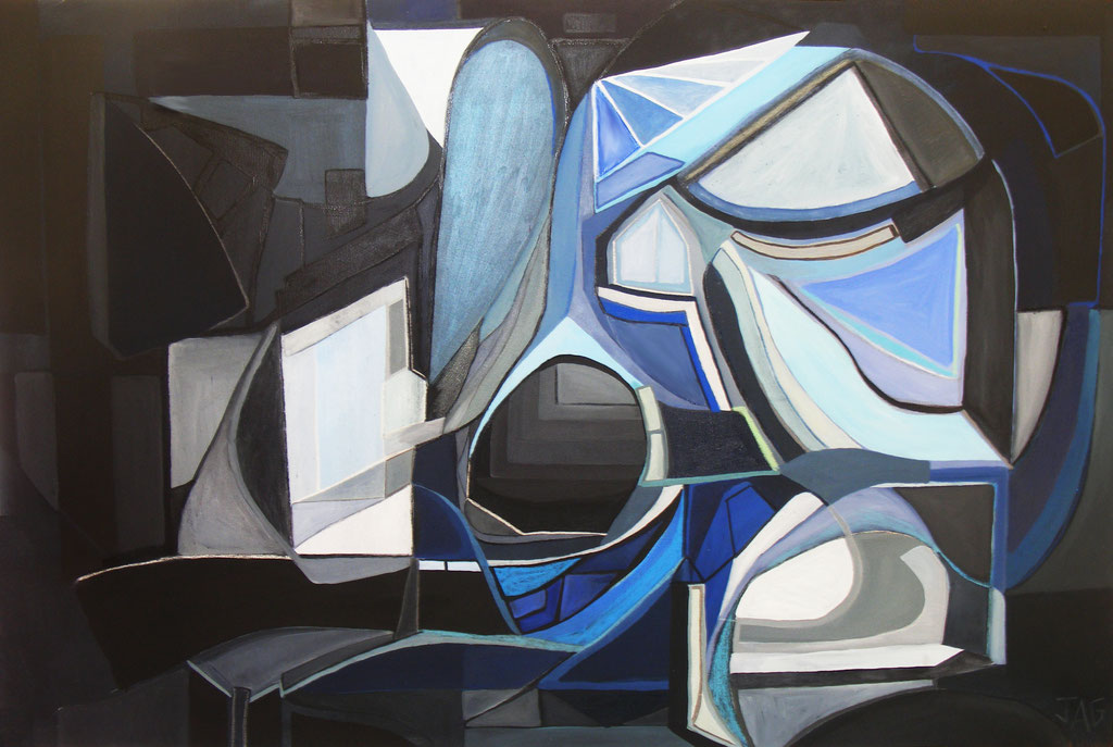 'Atlantis' oil, acrylic, pastel and charcoal on canvas, 2012 - SOLD