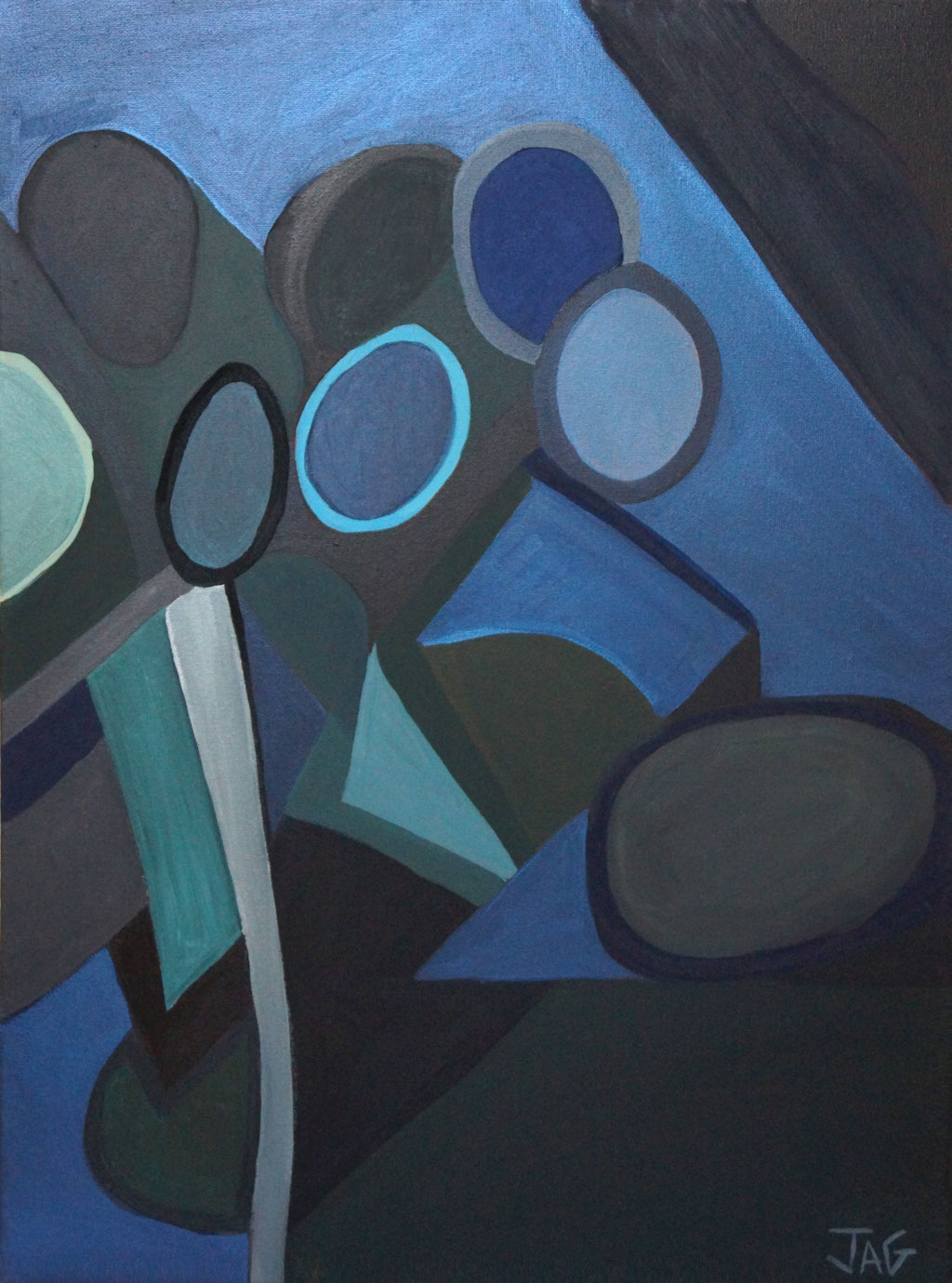 'Into the night' acrylic on canvas, 45 x 61cm, 2020 - price on request