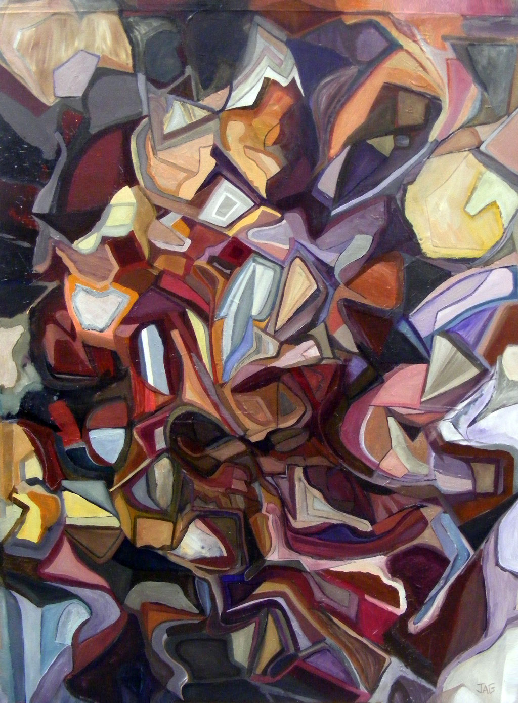 'Earth, Wind, Fire and Water' oil, emulsion, acrylic and pastel on canvas, 2010 - SOLD