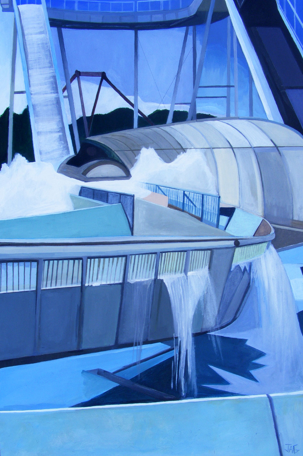'Flume' acrylic on canvas, 2013 - SOLD