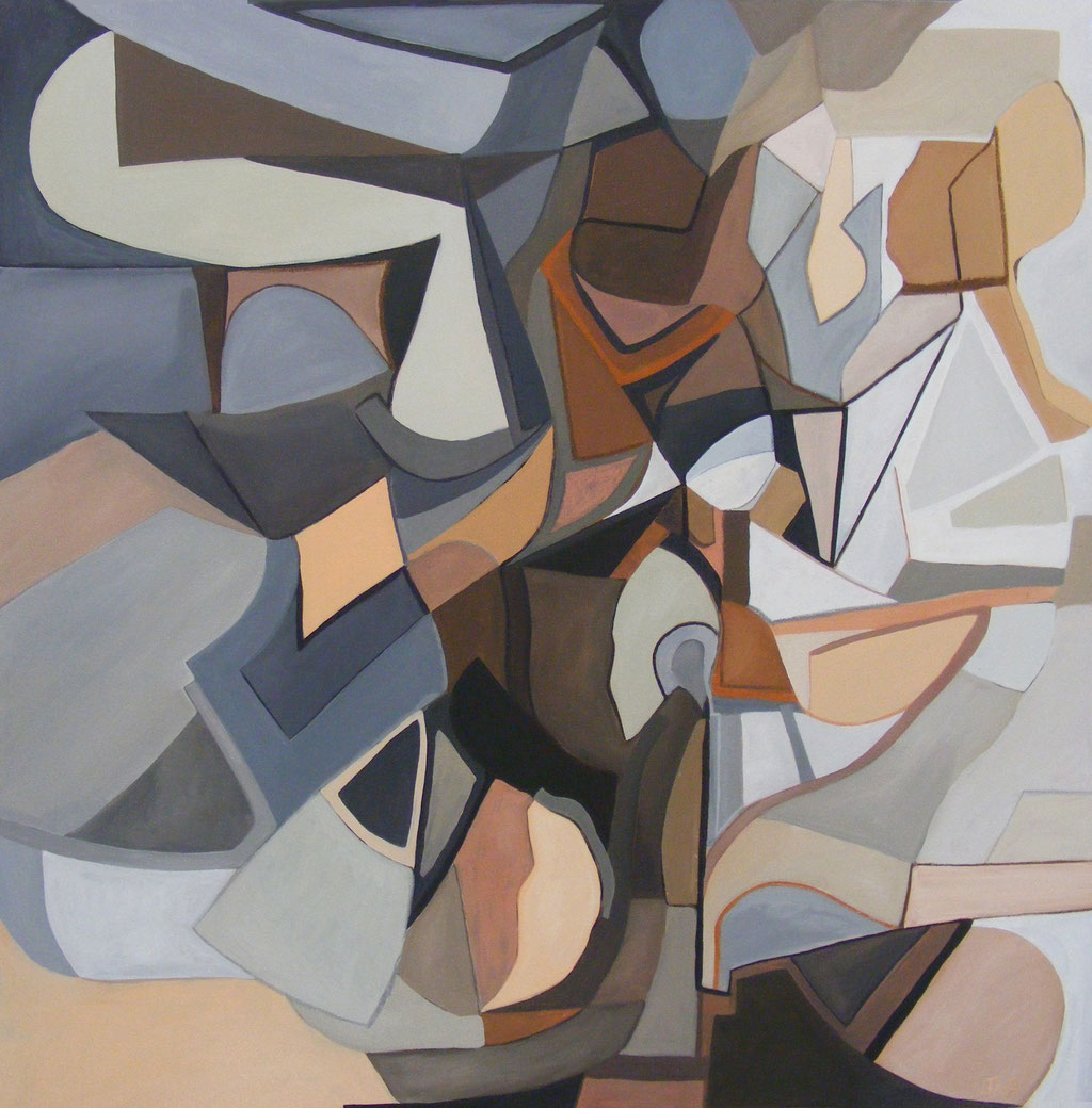 'Mechanics' acrylic and emulsion on canvas, 2011 - SOLD