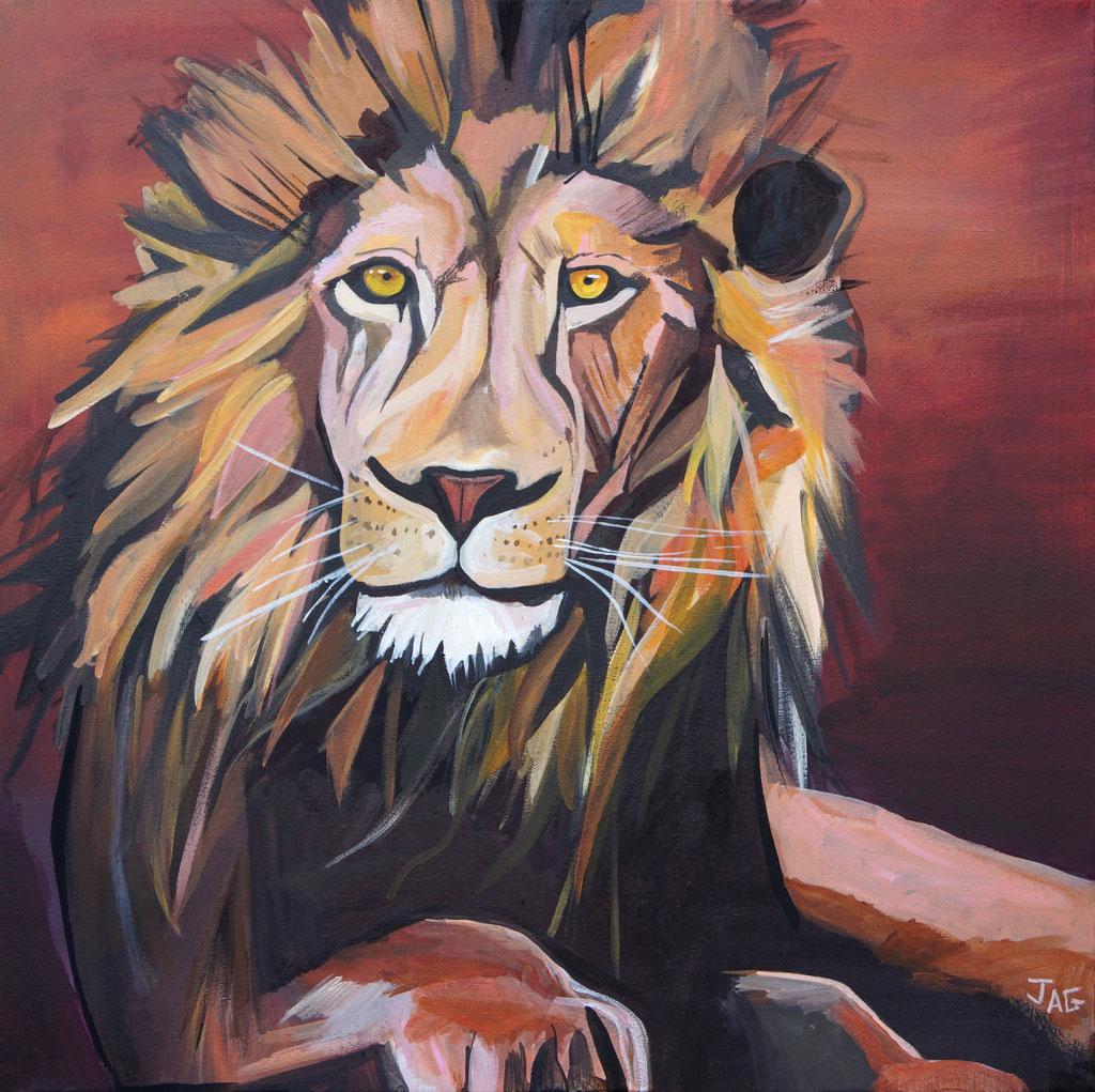 'Levi' acrylic on canvas, 2020, 61 x 61cm - price on request