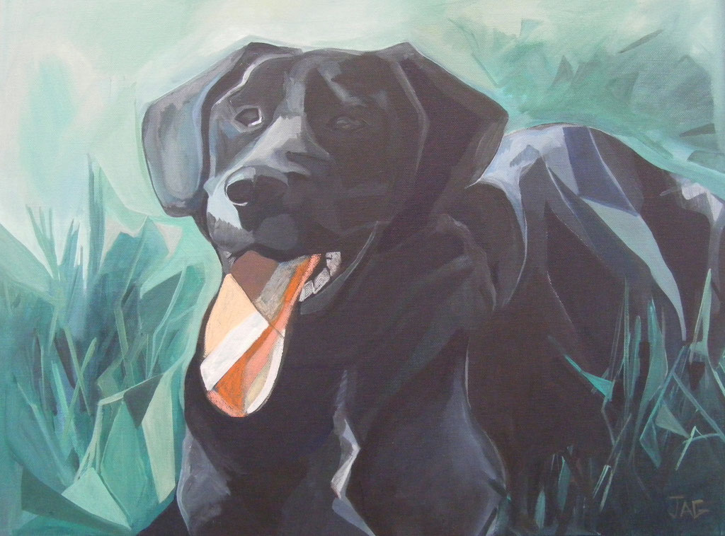'Charlie Grimditch' acrylic and chalk on canvas 2012 - SOLD