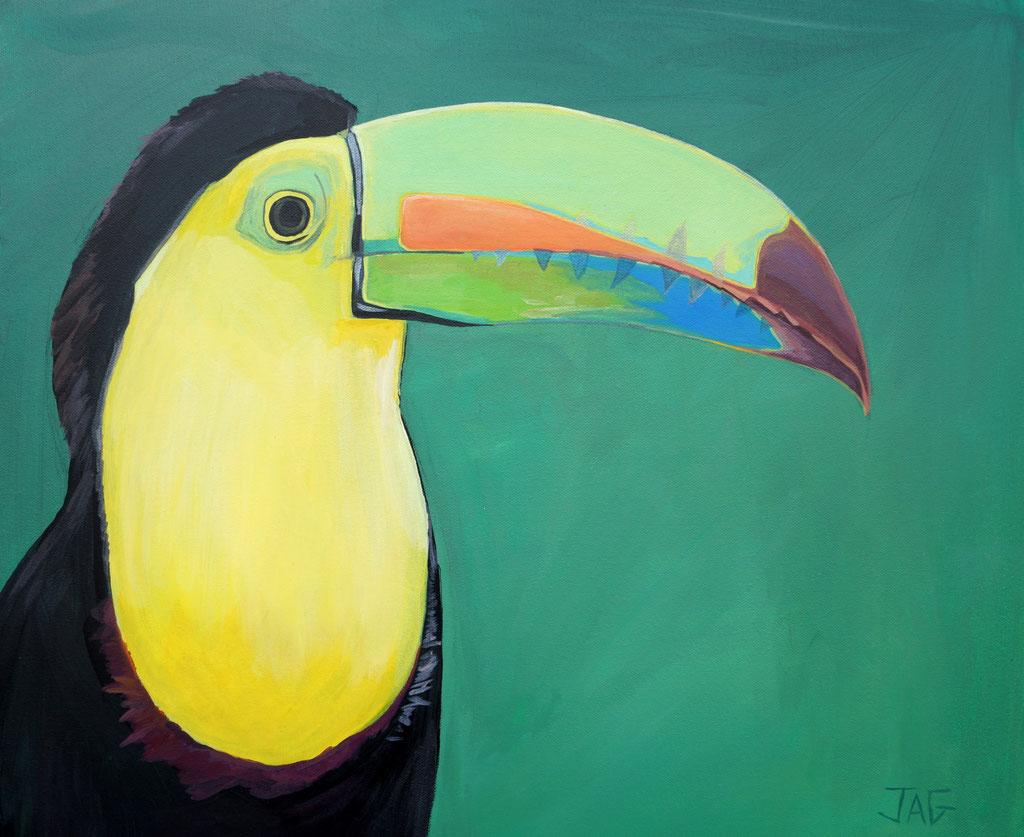 'Tom' acrylic on canvas, 2020, 61 x 51cm - SOLD