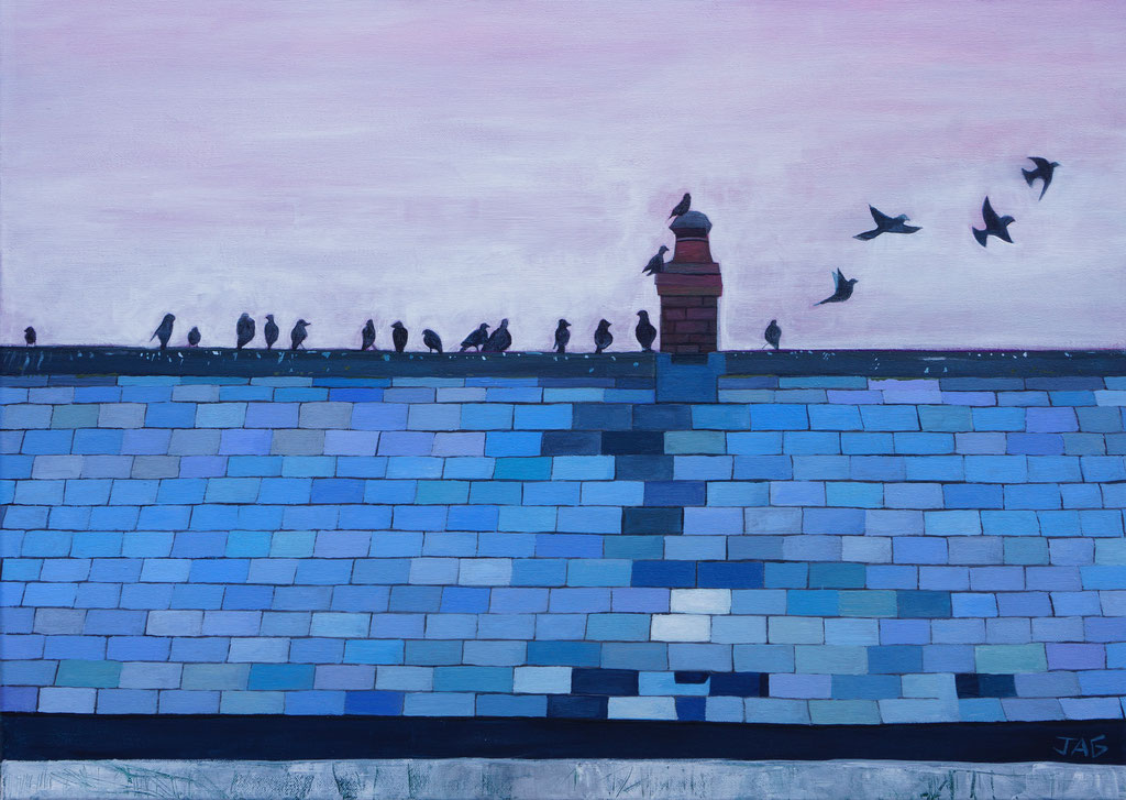 'The view from the Top' acrylic on canvas, 2021, 50 x 70cm - price on request