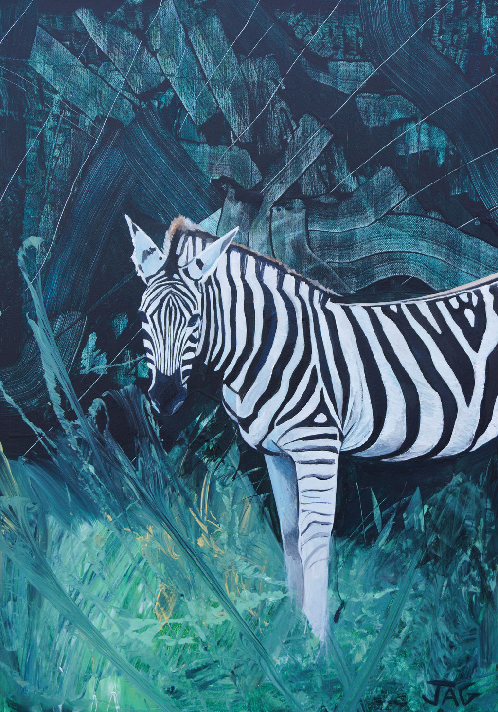 'Ziggy' acrylic on canvas, 2021, 50 x 70cm - price on request
