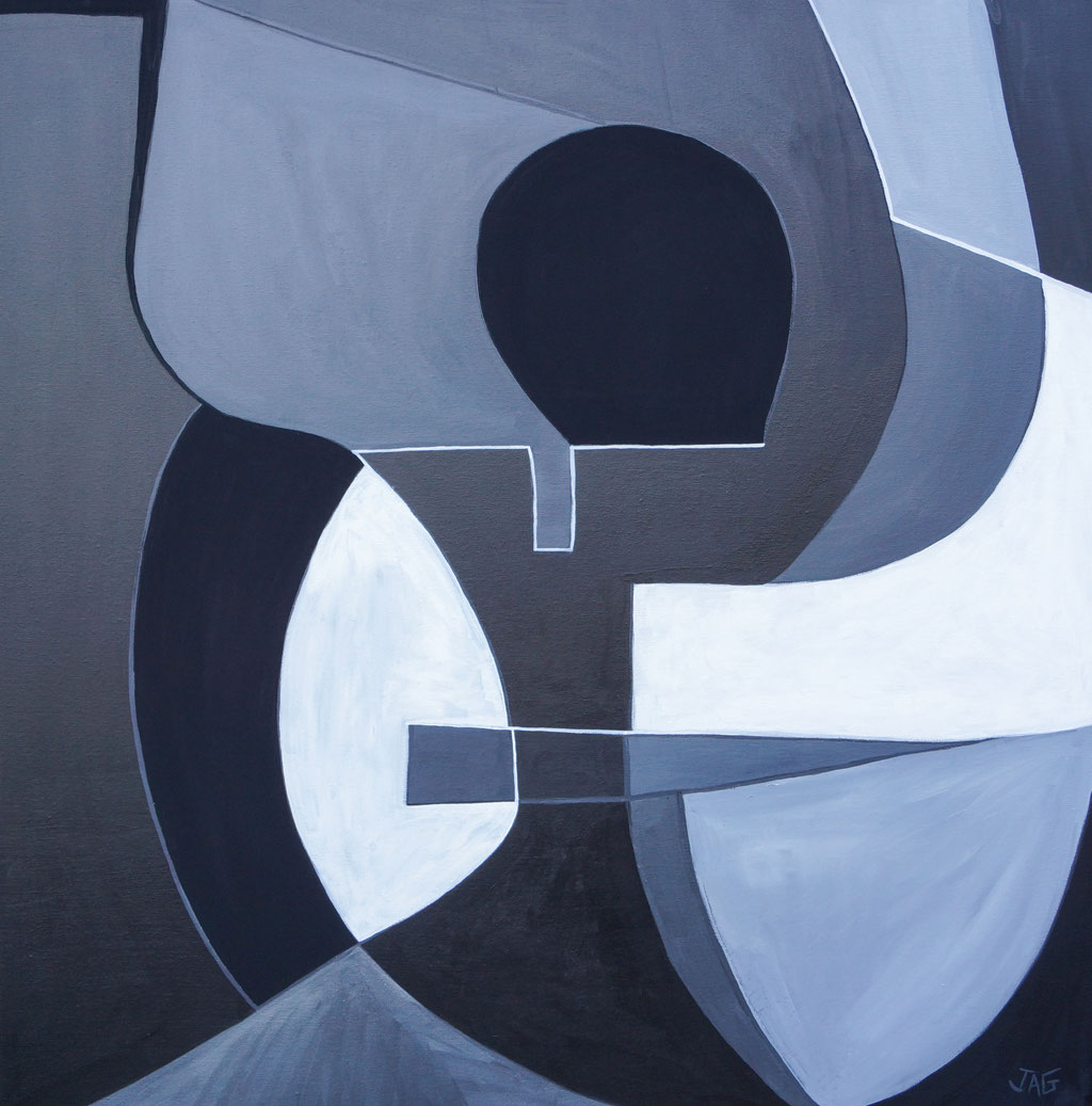 'Conflux' acrylic on canvas, 100 x 100cm, 2021 - price on request