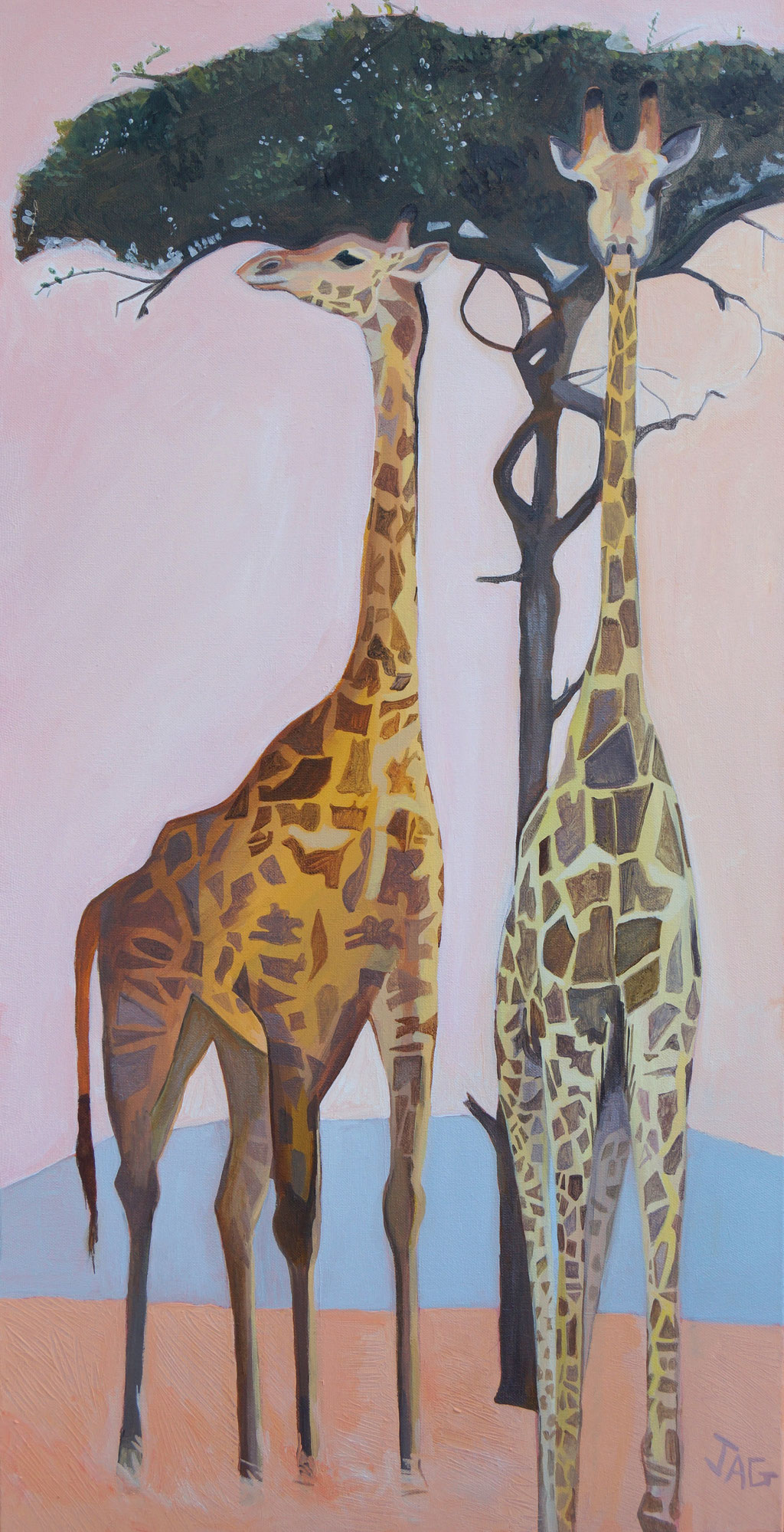 'Larger than life' acrylic on canvas 2019, 50 x 100cm - SOLD