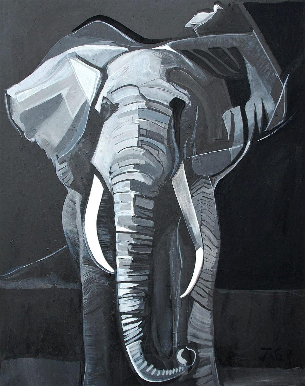 'Eleanor' acrylic on canvas, 2020, 123 x 153cm - SOLD