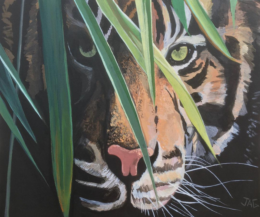 'Eye of the Tiger'  acrylic on canvas 2019 - SOLD