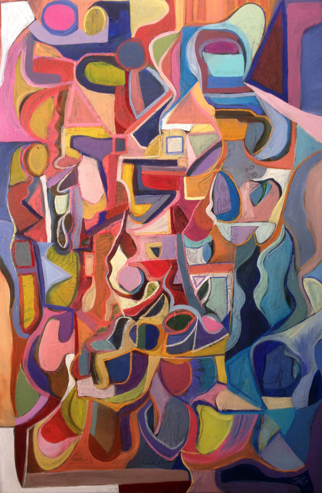 'Love Potion' acrylic, chalk and emulsion on canvas, 2010 - SOLD