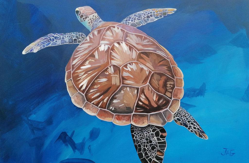 'Michelangelo' acrylic on canvas, 2020, 77 x 51cm - SOLD
