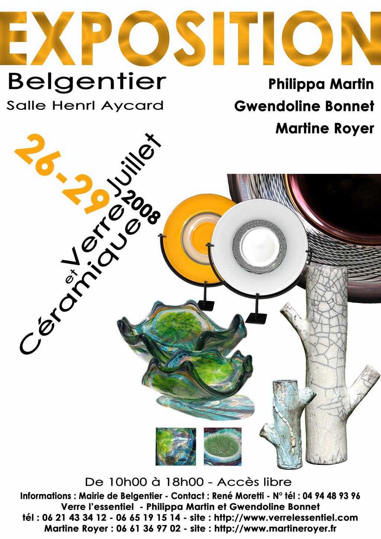 martine royer céramique exposition à Belgentier