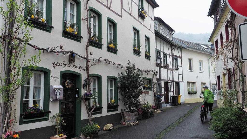 Kleine, gemütliche Gassen in Ahrweiler.