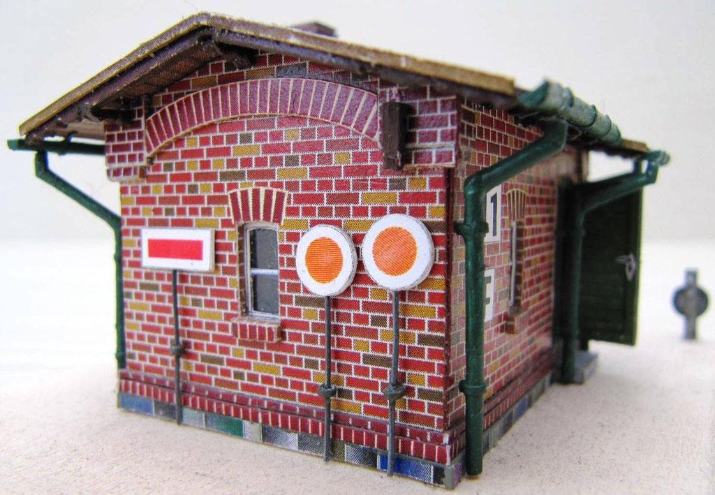 Schrankenposten für Bahnwärter