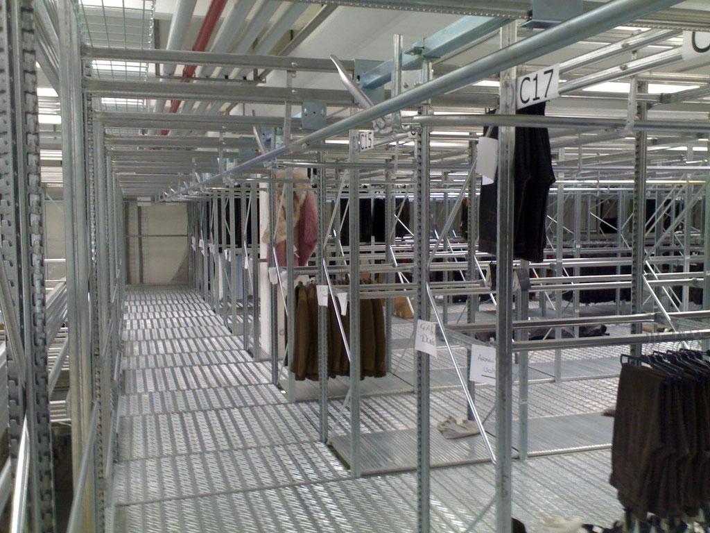 Stockanlagen für Bekleidung