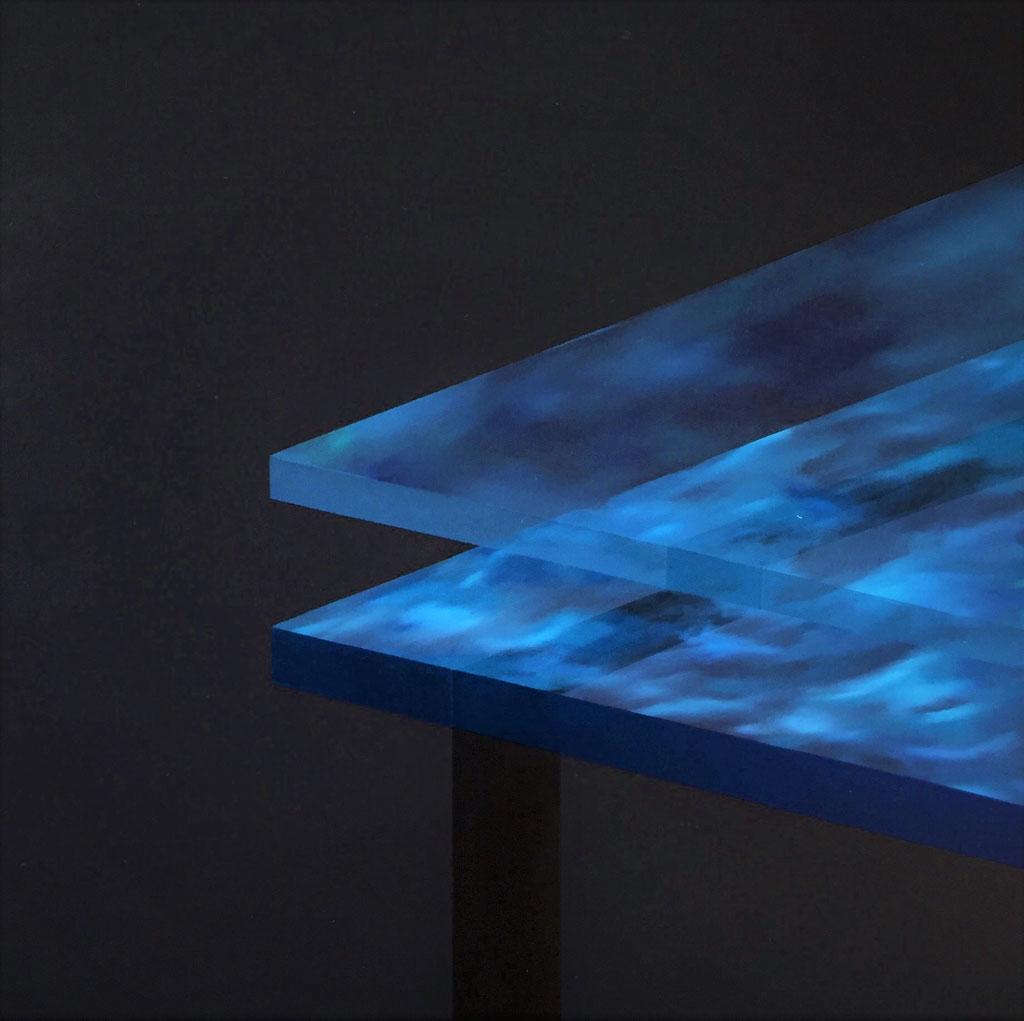 acrylics, oil and varnish on canvas 80 x80cm, 2020