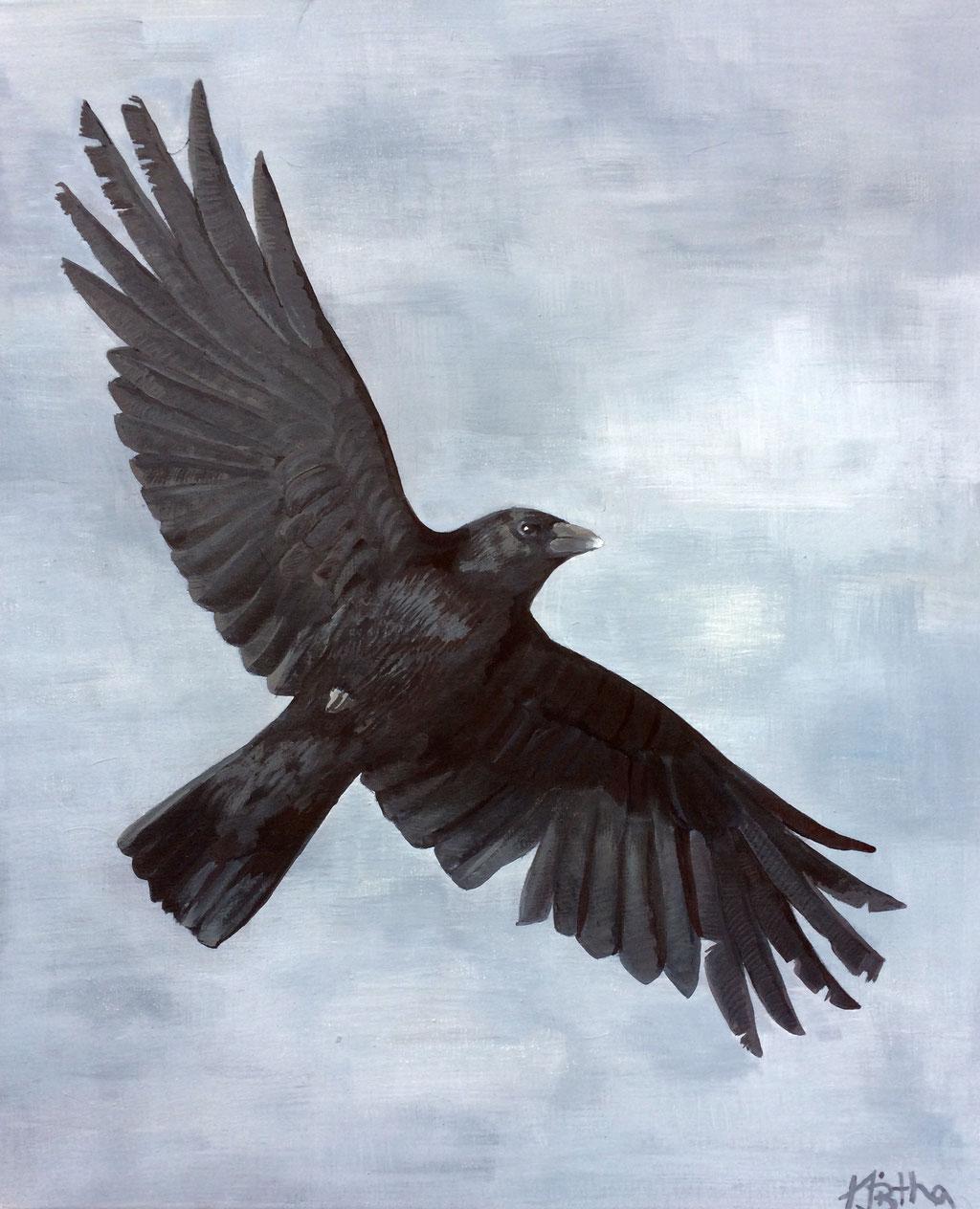 Wie ein Vogel zwei Flügel, 60x50cm, Eitempera auf Leinwand SOLD