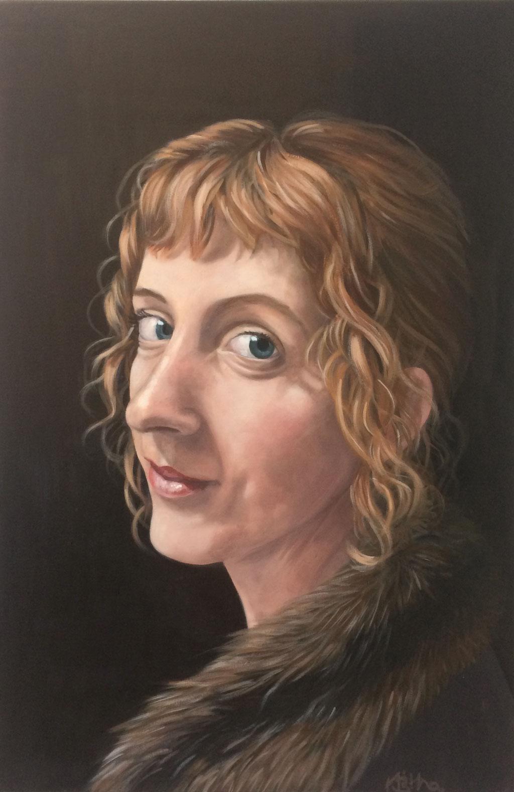Lady Starck, 90x60cm, Eitempera auf Leinwand